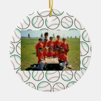 Softball or Baseball Sport Custom Ornament