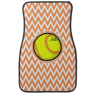 chevron car floor mats. Modren Mats Softball Orange And White Chevron Car Floor Mat To Mats