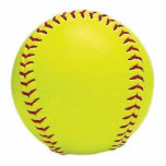 "Softball Ornament<br><div class=""desc"">Photo sculpture fastpitch softball ornament.</div>"