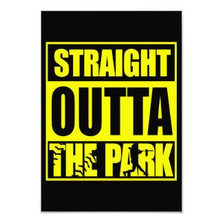 """Softball Outta recto de Fastpitch el parque Invitación 3.5"""" X 5"""""""