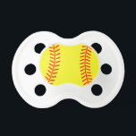 "Softball pacifier | soother dummy binkie<br><div class=""desc"">Softball pacifier 