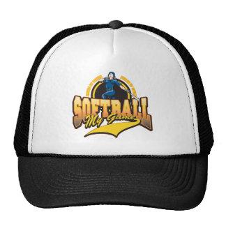 Softball para mujer mi juego gorro de camionero