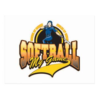 Softball para mujer mi juego tarjetas postales