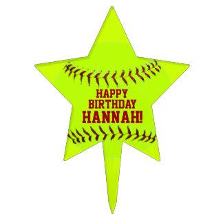 Softball personalizado de Fastpitch de los chicas Decoración Para Tarta