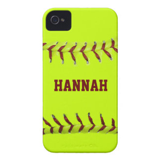 Softball personalizado iPhone 4 Case-Mate cárcasa