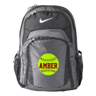 Softball personalizado mochila