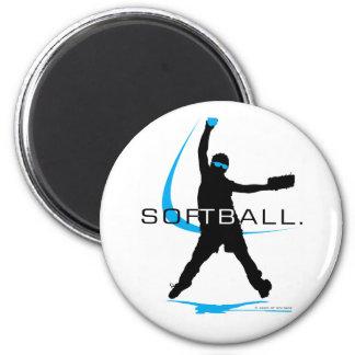 Softball - Pitcher 2 Inch Round Magnet