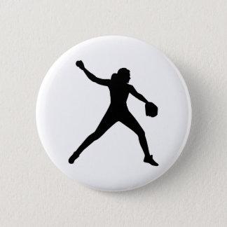 Softball pitcher button