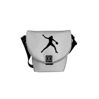 Softball pitcher courier bag