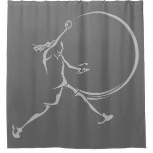 Softball Pitcher Shower Curtain