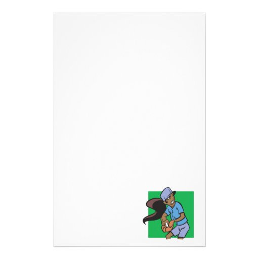 Softball Pitcher Stationery Paper