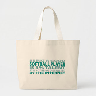 Softball Player 3% Talent Canvas Bags