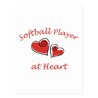 Softball Player at Heart Postcard