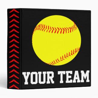 Softball Player, Coach or Team Custom Binder