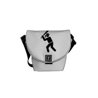 Softball player courier bag
