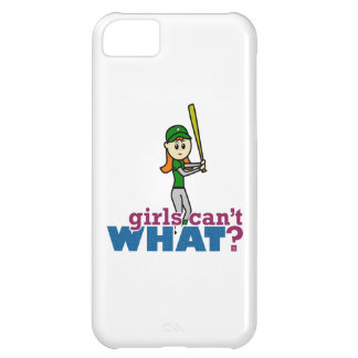 Softball Player Girl in Green iPhone 5C Cases