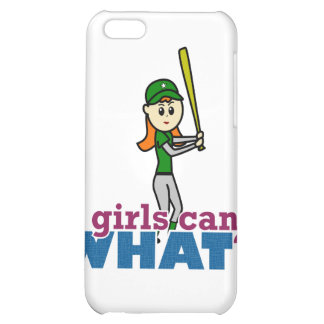 Softball Player Girl in Green iPhone 5C Cover