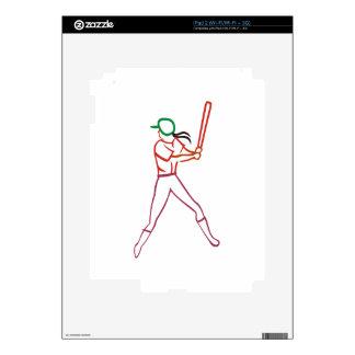 Softball Player iPad 2 Decals