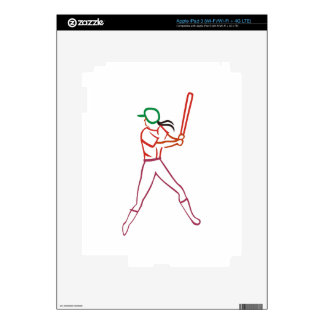 Softball Player iPad 3 Skin