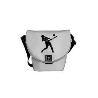 Softball player messenger bag