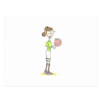 Softball Player Postcard