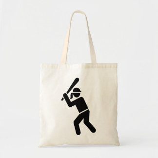 Softball player tote bag