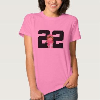 Softball Player Uniform Number 22 (Girls) Gift T-Shirt