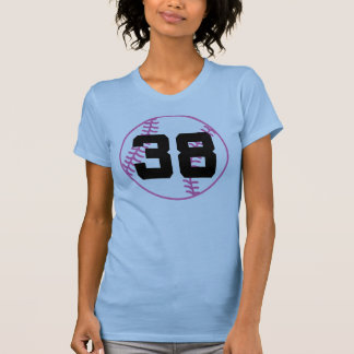 Softball Player Uniform Number 38 Gift T Shirt