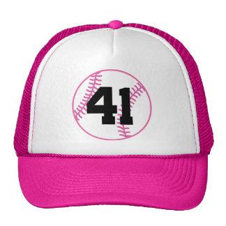 Softball Player Uniform Number 41 Gift Mesh Hats