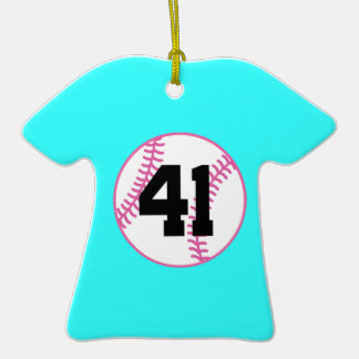 Softball Player Uniform Number 41 Gift Ornaments