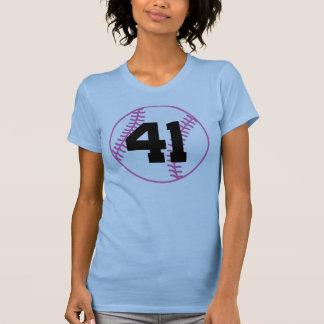 Softball Player Uniform Number 41 Gift Tee Shirt