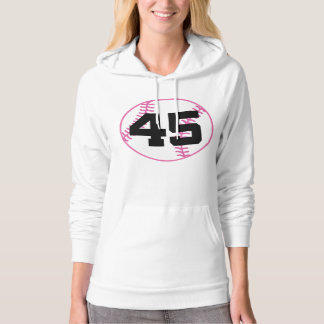 Softball Player Uniform Number 45 Gift Pullover