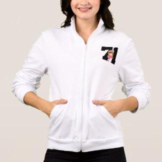 Softball Player Uniform Number 71 (Girls) Gift Jacket