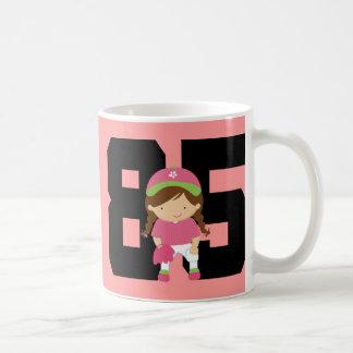 Softball Player Uniform Number 85 (Girls) Gift Coffee Mug