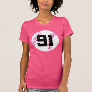 Softball Player Uniform Number 91 Gift T Shirts