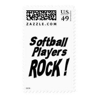 Softball Players Rock ! Postage Stamps