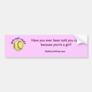 Softball-Purple Bumper Sticker