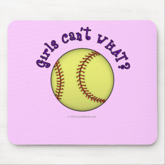 Softball-Purple Mouse Pad