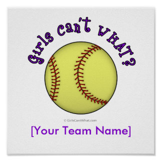 Softball-Purple Poster