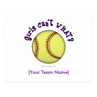 Softball-Púrpura Tarjetas Postales