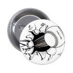 softball que rasga a través de gráfico de la bola  pin
