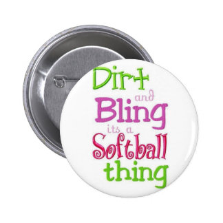 softball quote white cute and cool pinback button