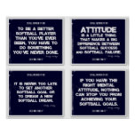 Softball Quotes Blue Collage 9-12 Poster