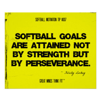 Softball Quotes in Threads 007 Print