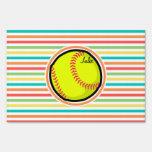 Softball; Rayas brillantes del arco iris