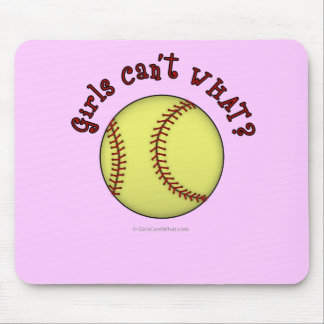 Softball-Red Mouse Pad