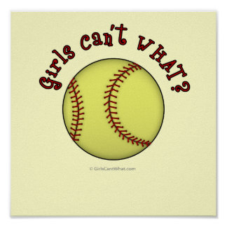 Softball-Red Poster
