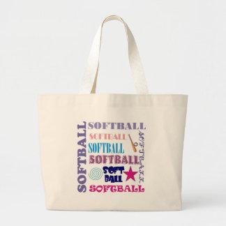 Softball Repeating Jumbo Tote Bag