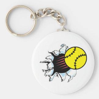 Softball Rip It Keychain