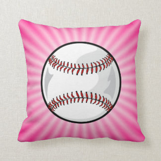 Softball rosado cojín